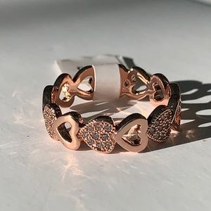 Roxi Steeling Silver Rose Gold Plated Ring